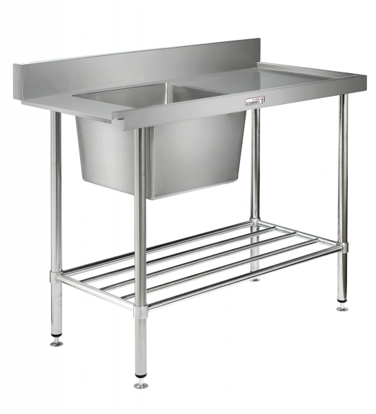 Simply Stainless Dishwash Table & Sink - SS081200R